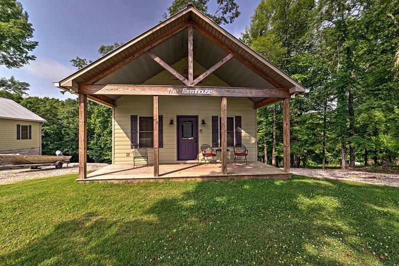 A lovely Alabama retreat awaits at this 2-bed, 1-bath vacation rental cabin.