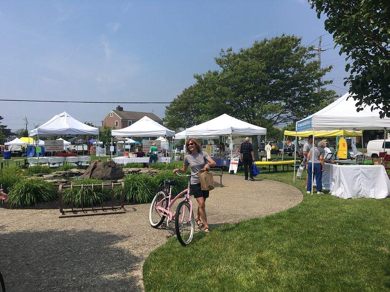 Farmers Market is a short bike ride away