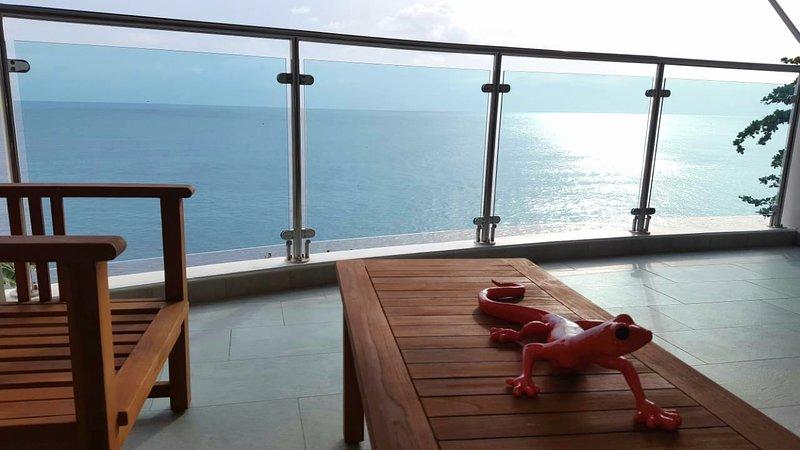 Relaxez-vous depuis la terrasse au gré des vagues