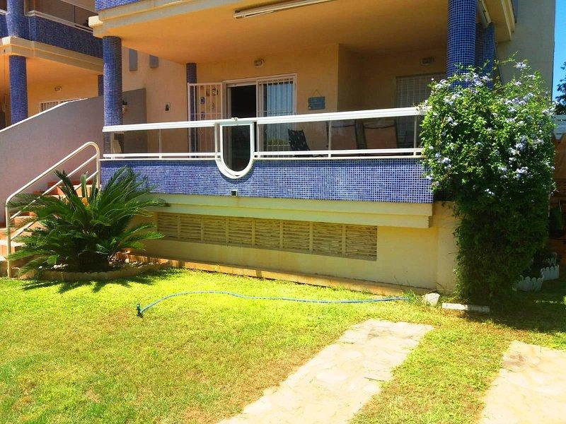 Vista del apartamento desde el jardín