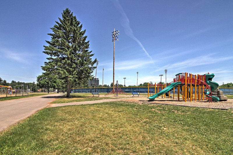 Be sure to bring the kids along and let them run around the playground.