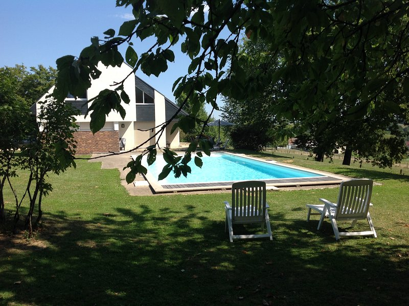 View from the middle of garden, on land maintained 45 acres, quiet