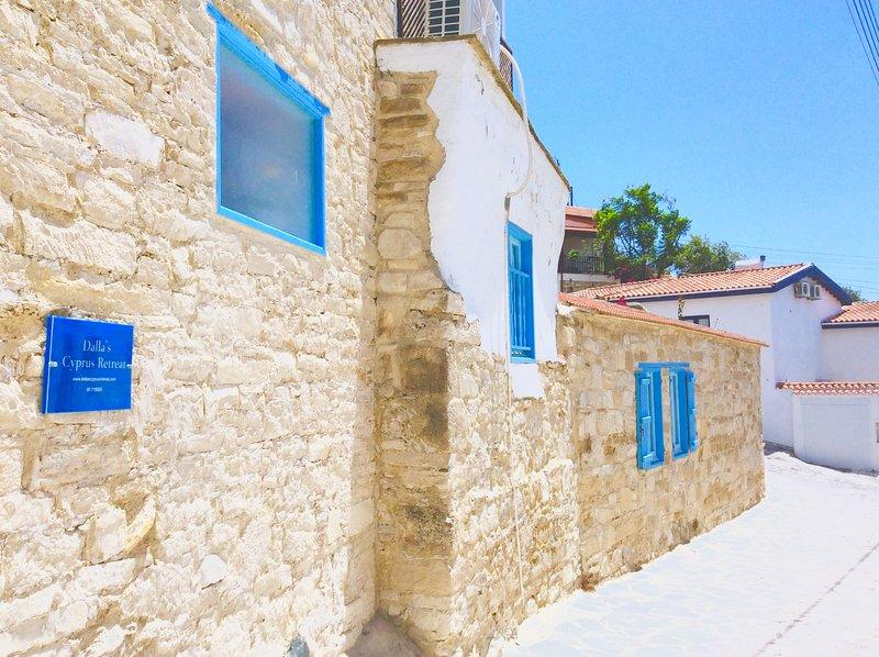 Traditional fused with contemporary. Dalla's Cyprus Retreat, Maroni Village, Larnaca Cy.