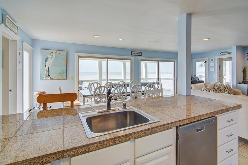 Lavar los platos con una vista!