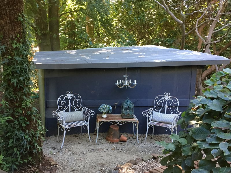 Sitting area in the garden.