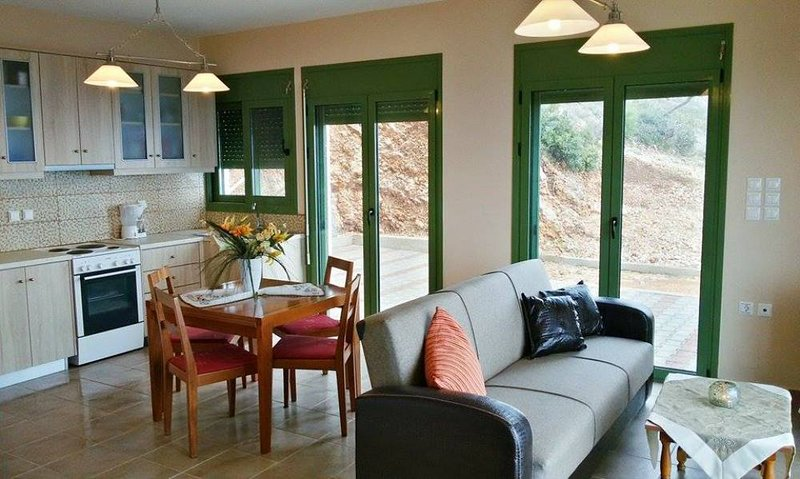Porto Katsiki apartment for 6 - two bedrooms-fascinating sea view, vacation rental in Athani