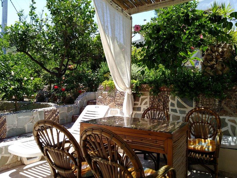 Spaceful apartment with veranda n garden, holiday rental in Amoudara