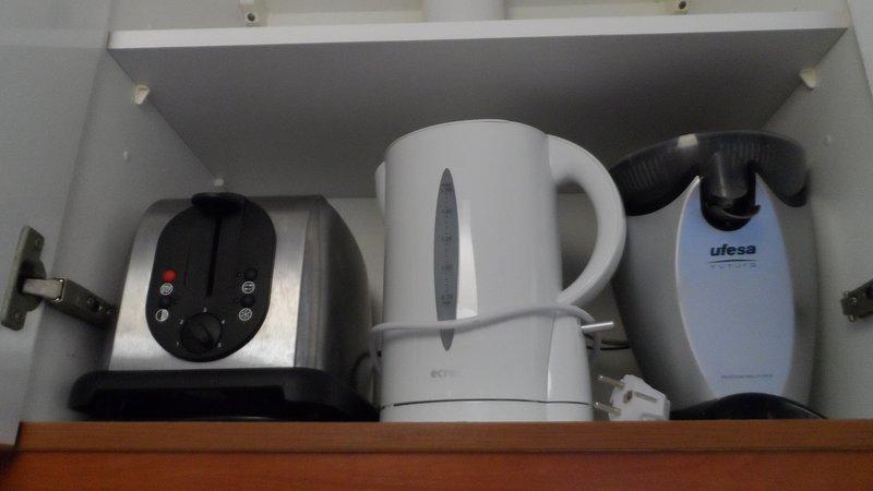 Small appliances: toaster, kettle, coffee maker, juicer juice, Blender