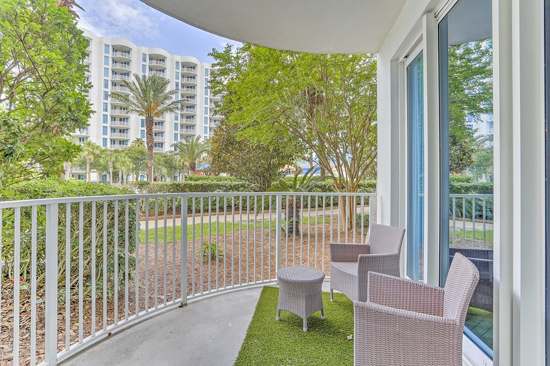 This first-floor unit boasts 2 bedrooms and 2 bathrooms.