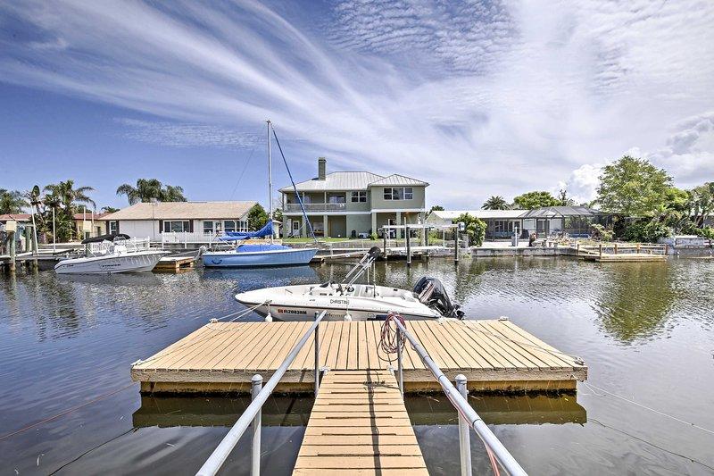 Situado en el agua, esta casa para 6 es de primera categoría.