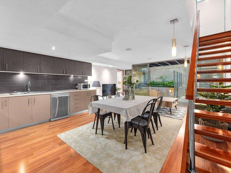 Spacious kitchen/living area