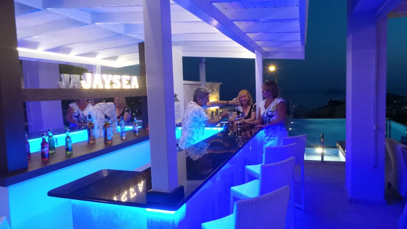 The JaySea poolside bar for those evenings in at the villa