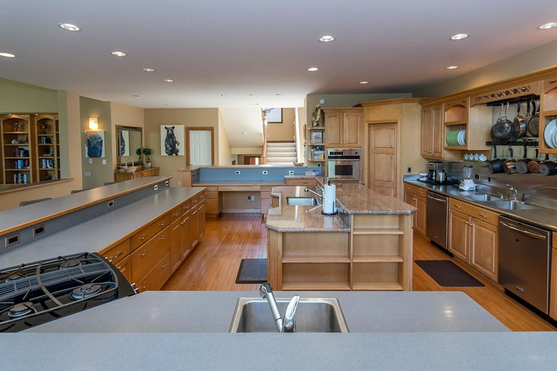 Tons of cooking and counter space in the kitchen