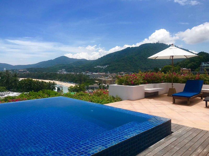 Spacious Rooftop Terrace Pool With Beautiful Views Over Kata Beach
