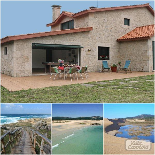 Villa Carolina Santiago de Compostela Galicia playa, holiday rental in Aguino