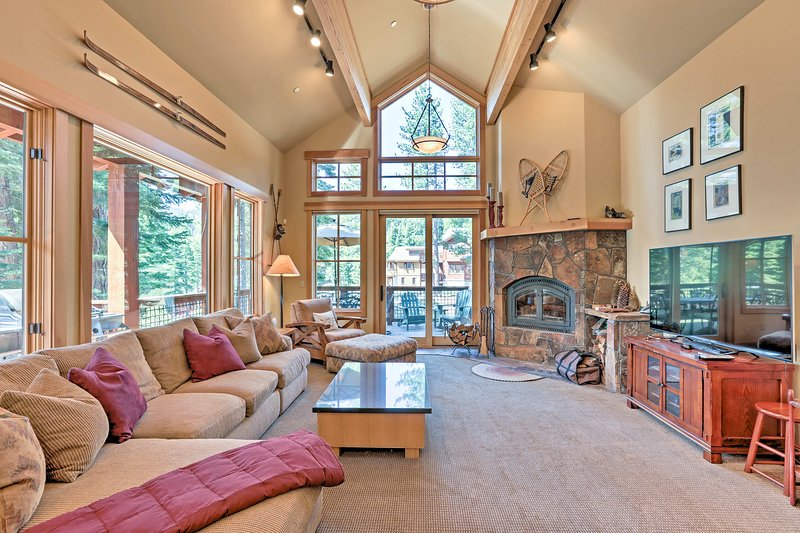Experience the majestic Sierra Nevadas from this Truckee vacation rental house!