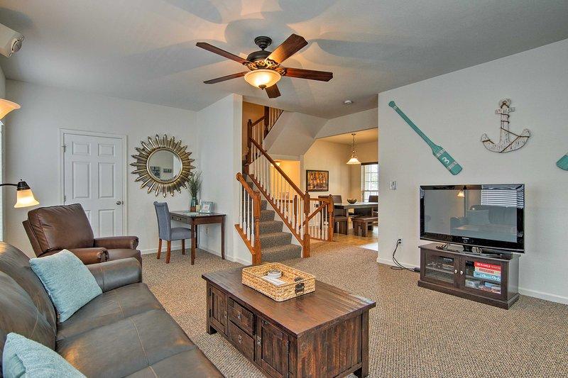Avec 4 chambres et 3,5 salles de bains, cette maison est idéale pour les groupes de 11.