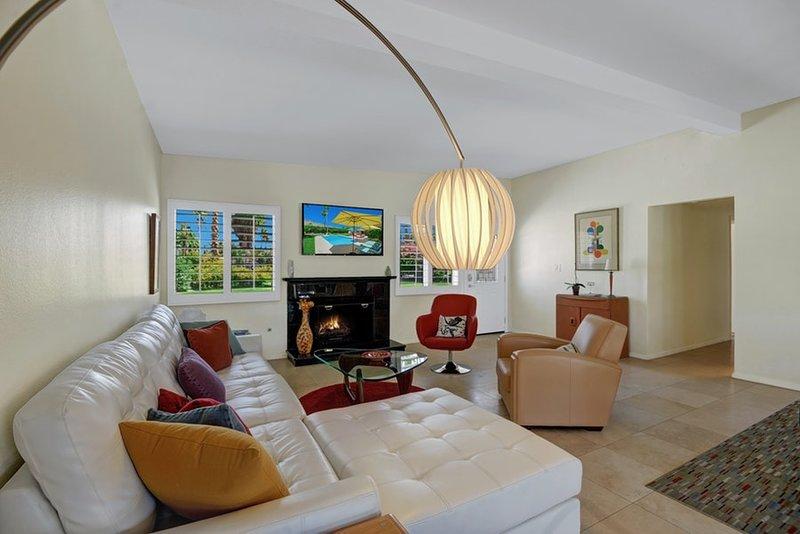 moderna sala de estar con estilo con muebles de lujo
