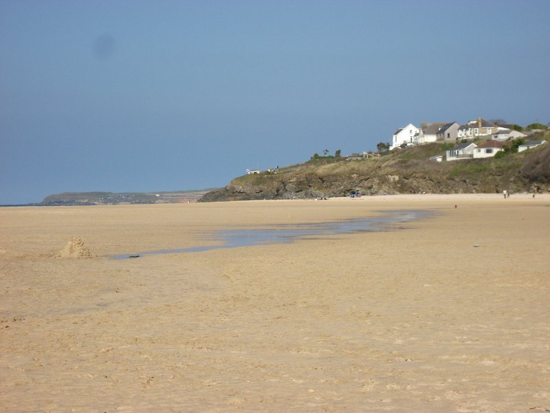 View of Hayle Beach towards Godrevy at low tide