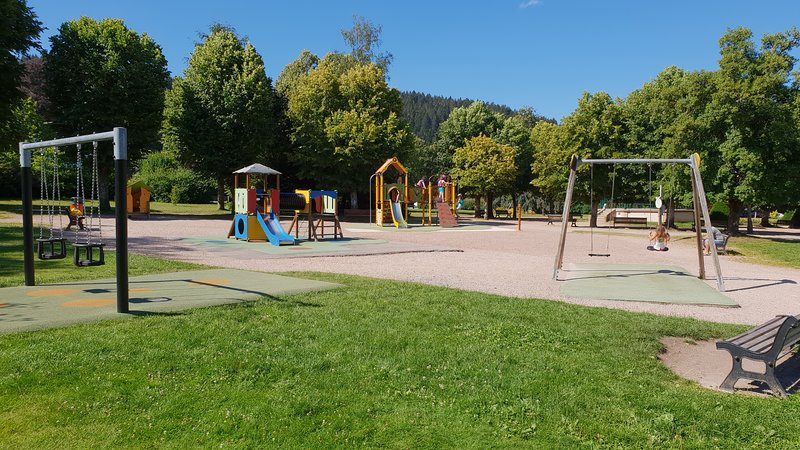 Games children in the park 30 meters