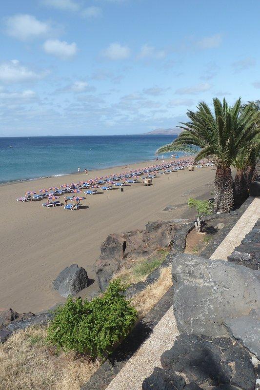 Playa Grande has sunbeds and watersports