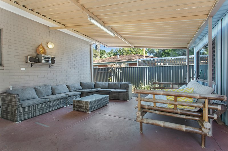 Outdoor entertainment area with bbq