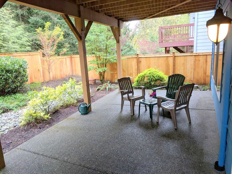 Patio and backyard for guest's use