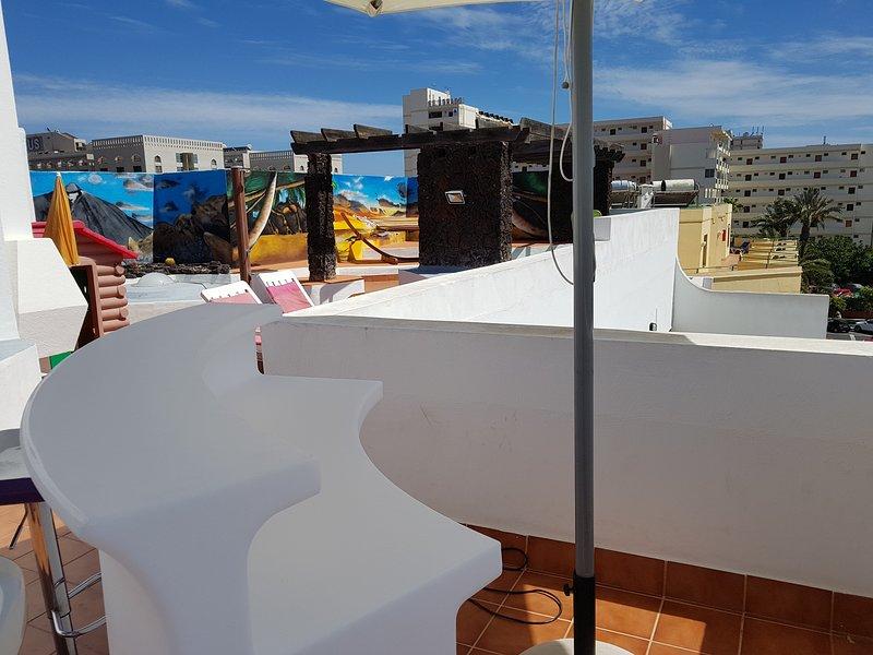 Terraza 'Chill out' con pinturas murales