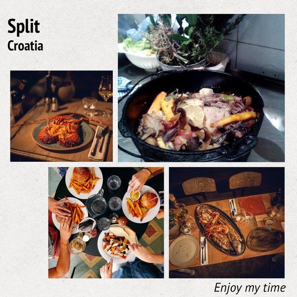 comidas tradicionales en los restaurantes de Split