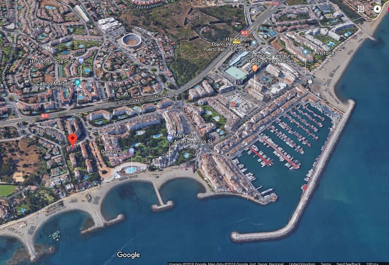 Our beach front apartments are few minutes walk from Marina Puerto Banus and all amenities