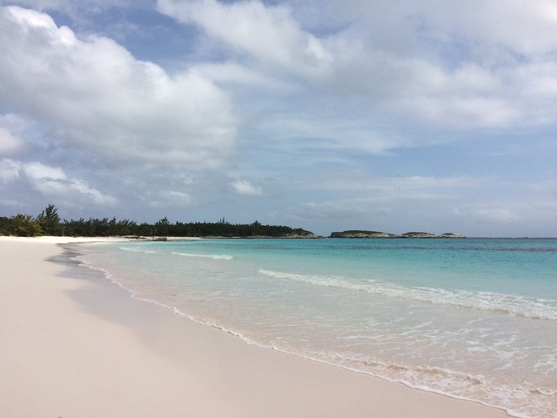 Your own white pink sand beach in front of the house- you can walk for miles in either direction--