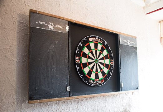 Dartboard - can you score 180! Give it a try!