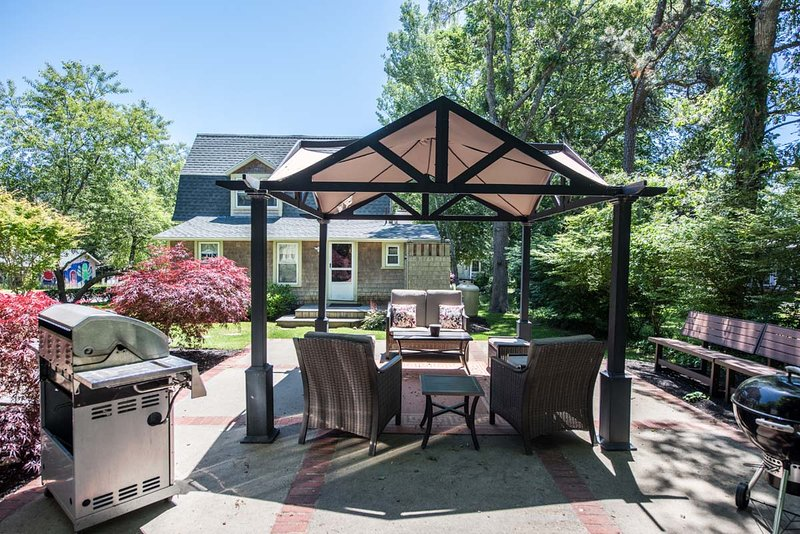 Fabulous Patio Area surrounded by Lovely Landscaped Grounds