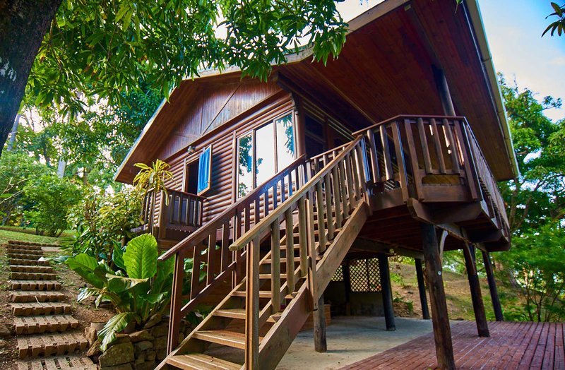 Erasmus Cove Tobago rainforest cabin | private beach, waterfall, vacation rental in Charlotteville