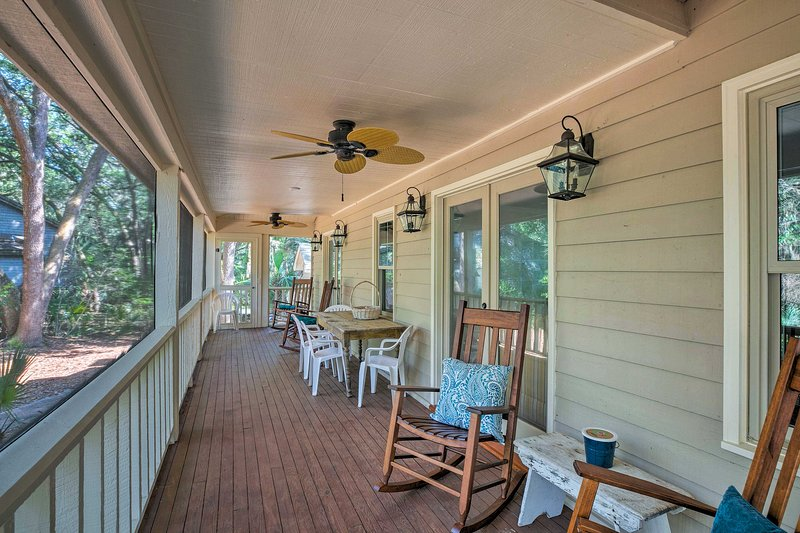 This southern-style home includes 3 bedrooms and 2.5 bathrooms.