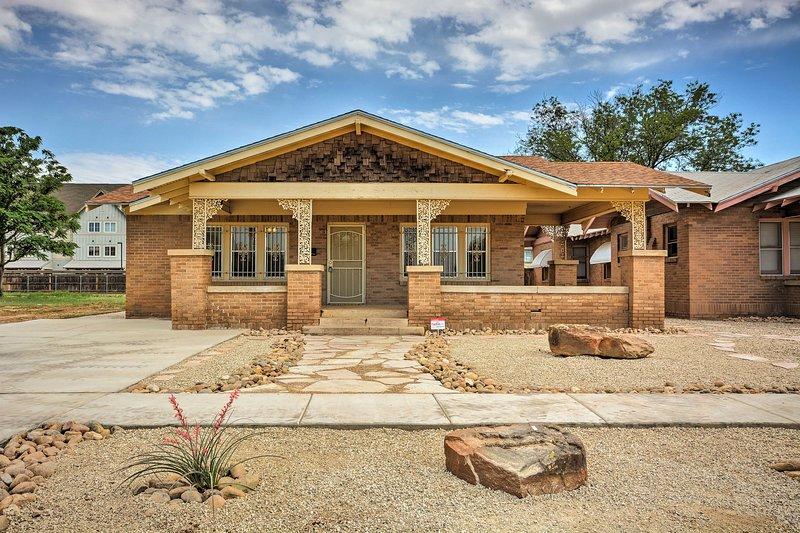 Lubbock House - Walk to Texas Tech & Downtown, location de vacances à Lubbock