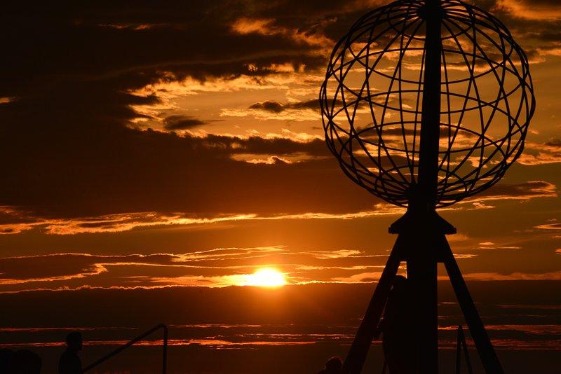 El Cabo Norte, en sol de medianoche