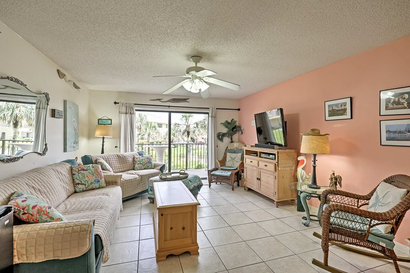 Seaside serenity awaits at this St. Augustine condo.