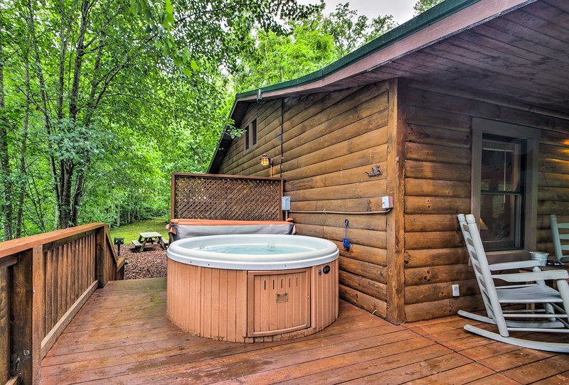Sit in the hot tub each morning to start your day on a relaxing note.