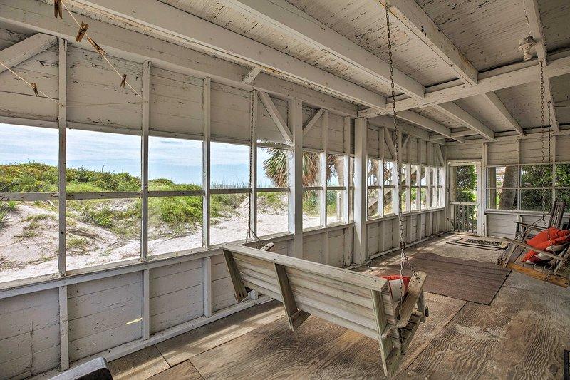 Unwind in this 2-bedroom, 1-bathroom vacation rental townhome in Edisto Island.
