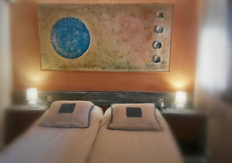 El confortable dormitorio