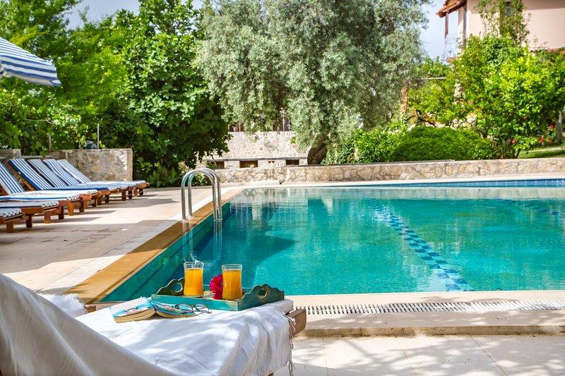 peaceful holiday villa with garden and shared pool, casa vacanza a Islamlar