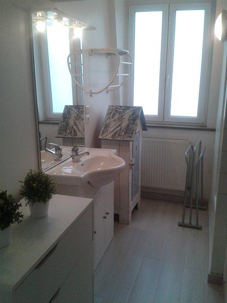 Il bagno con la vasca da bagno