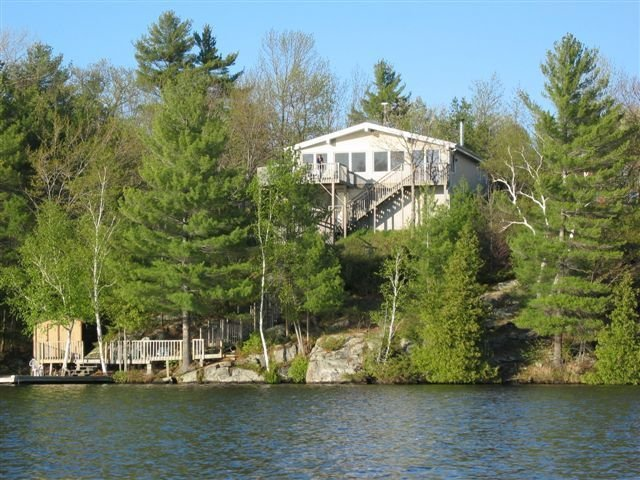 View from lake of the cottage