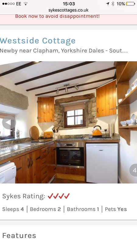Full equipped Kitchen with Dishwasher, Halogen Hob and Fan Assisted Oven. Microwave, Fridge Freezer.