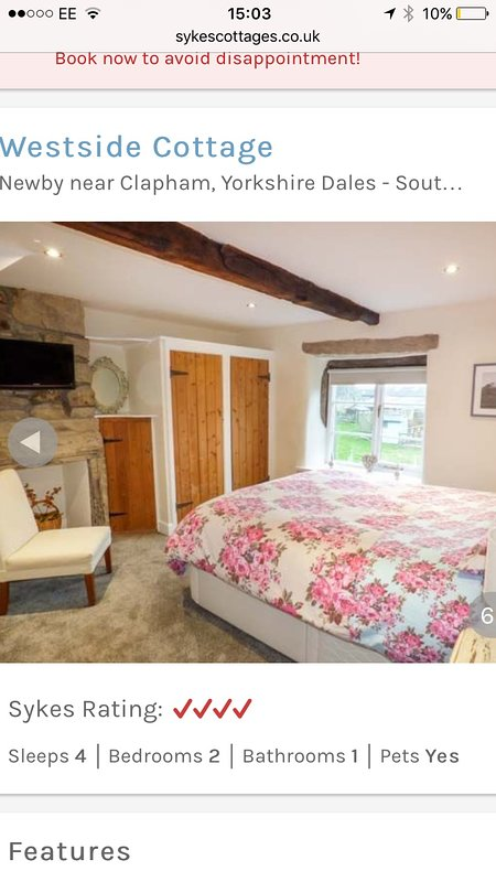 First Bedroom with King Bed, Fitted wardrobe and Dressing Table with Mirror. Wall mounted TV, Hair D