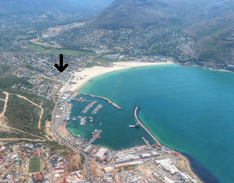 Our location! 100 meters from the beach, 400 meters to the harbour
