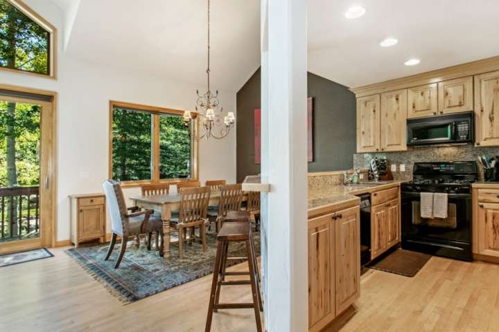 Open floor plan allows everyone to be together.