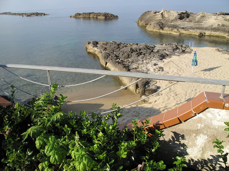 PANORAMA from the cantilevered terrace on Beach, Sea and Natural Pools