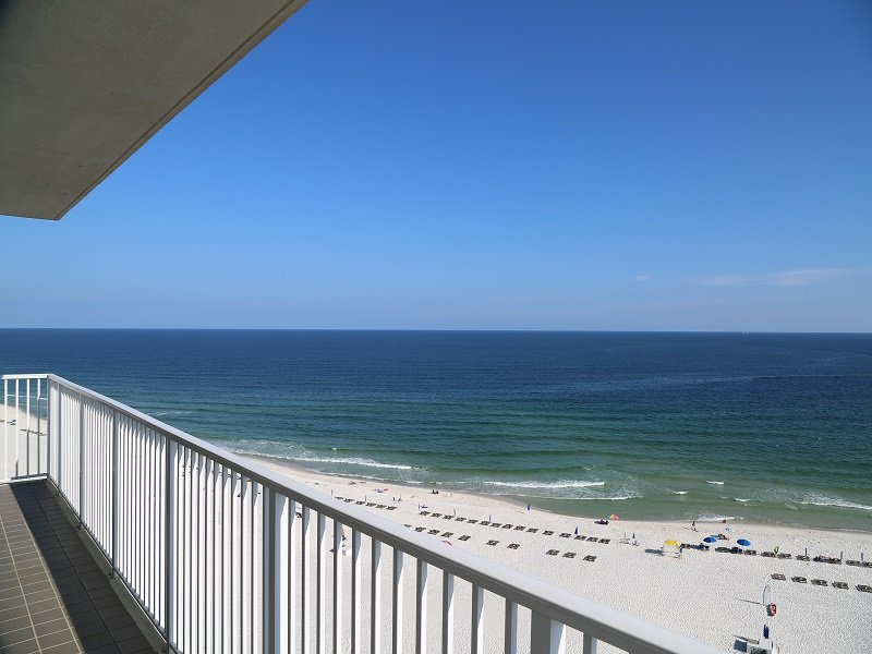 Gulf front view from wrap around balcony!